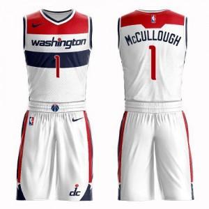 Nike NBA Maillot De Basket Chris McCullough Washington Wizards Suit Association Edition #1 Blanc Homme