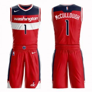 Nike Maillot De Basket McCullough Washington Wizards Rouge Suit Icon Edition Homme #1