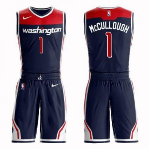 Nike Maillots McCullough Washington Wizards #1 Suit Statement Edition bleu marine Homme