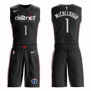 Nike Maillot De Chris McCullough Washington Wizards Noir Suit City Edition #1 Homme