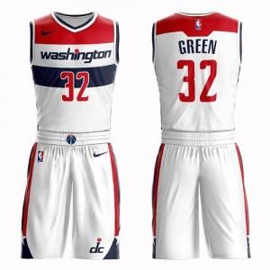 Nike NBA Maillots De Basket Green Wizards Blanc No.32 Suit Association Edition Homme