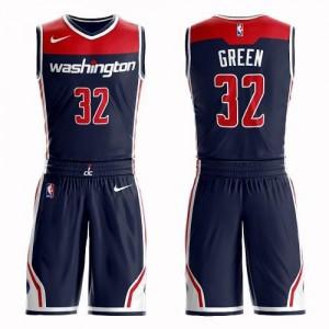 Nike NBA Maillot De Green Wizards bleu marine Homme No.32 Suit Statement Edition