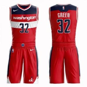 Maillot De Basket Green Wizards Nike Enfant Rouge Suit Icon Edition #32
